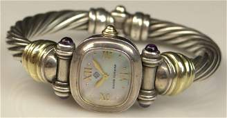 Retro David Yurman Sterling Silver  14K Ladys Watch