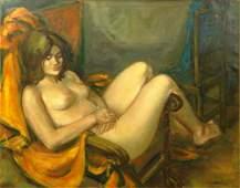 Jan de Ruth, American/Czech (1922-1991) Oil on Canvas