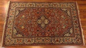 Semi Antique Persian Kashan Rug. Remnant of Cloth Tag