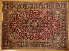 Semi Antique Persian Kashan Silk Rug Small Cloth Tag