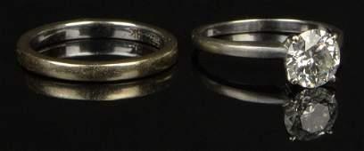 Lady's GIA Certified Diamond and 18 Karat White Gold