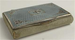 Antique French Guilloche Enamel and Silver Miniature