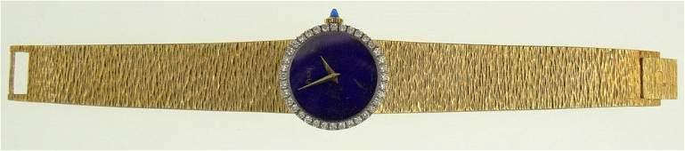 Vintage Piaget 18 Karat Yellow Gold Diamond and Lapis