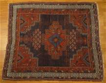 Semi Antique Persian Afshar Rug Unsigned  Wear low
