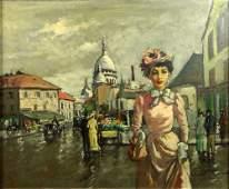 Francois Gerome French b 1895 Oil on Canvas La