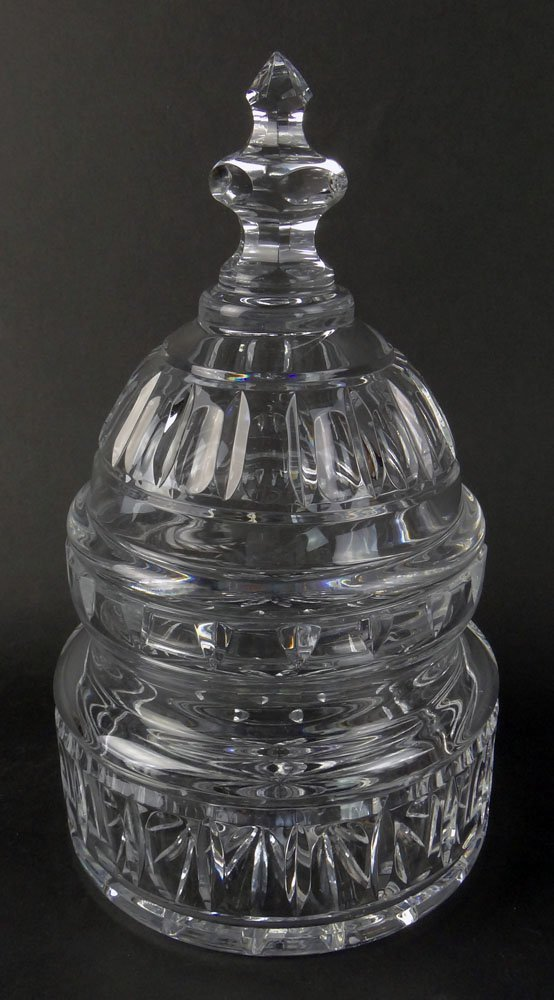 Waterford US Capitol Dome Biscuit Barrel, Covered Candy