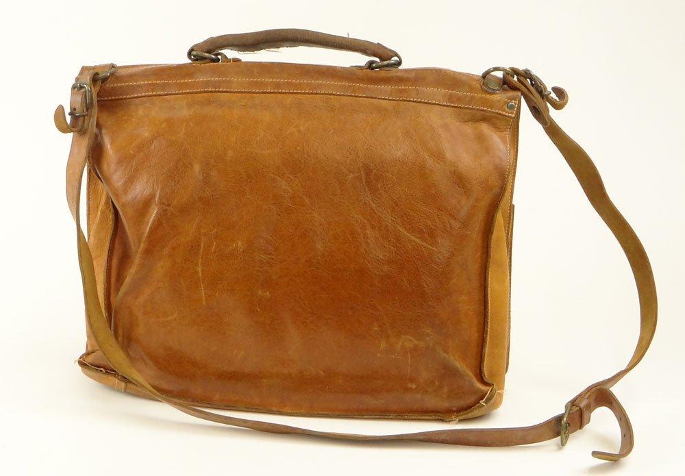 Vintage Il Bisonte Leather Attaché/Messenger Bag. - 2