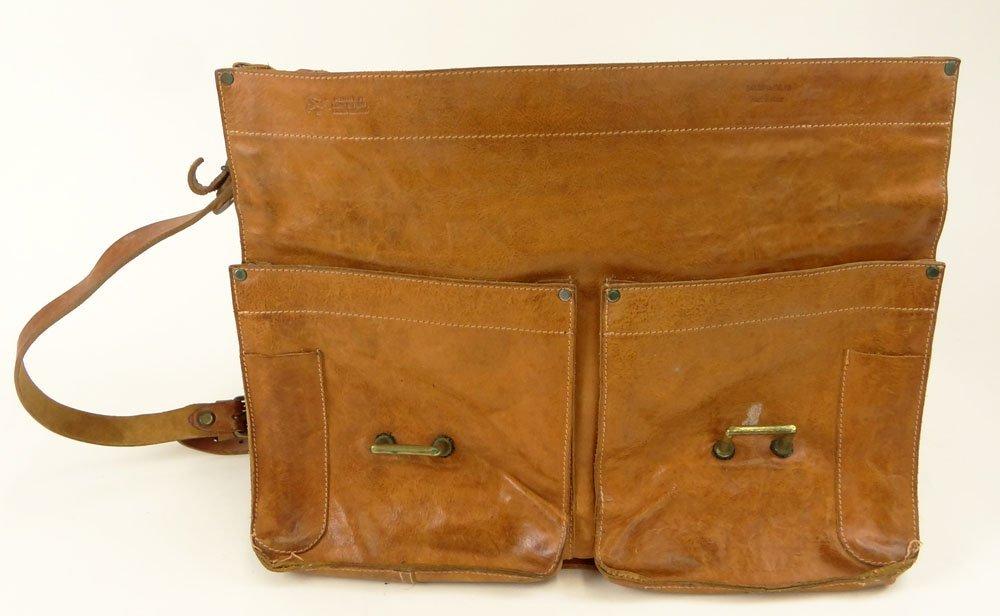 Vintage Il Bisonte Leather Attaché/Messenger Bag. - 4