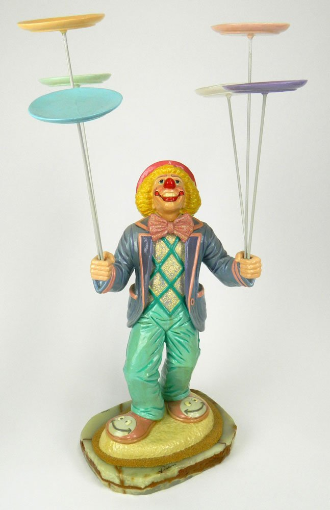 Circa 1996 Ron Lee Limited Edition Painted Resin Clown