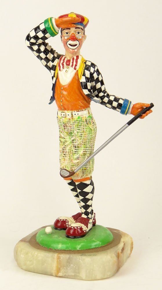"""Circa 1996 Limited Edition Ron Lee Clown """"Fore! Anyone"""""""