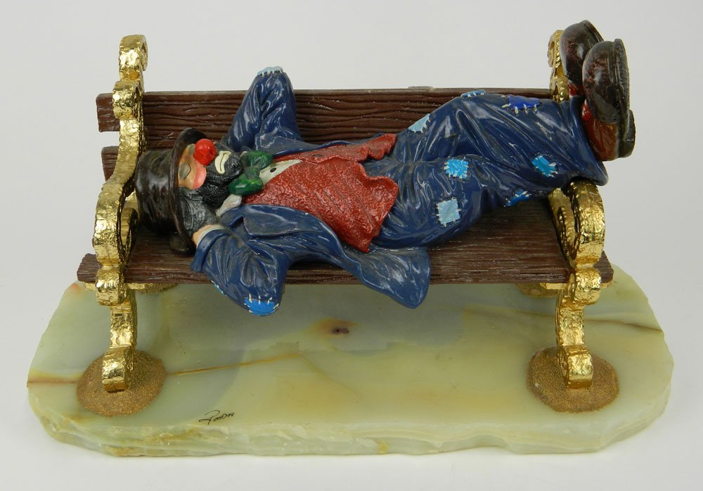 Ron Lee Limited Edition (1999) Enameled Bronze Clown