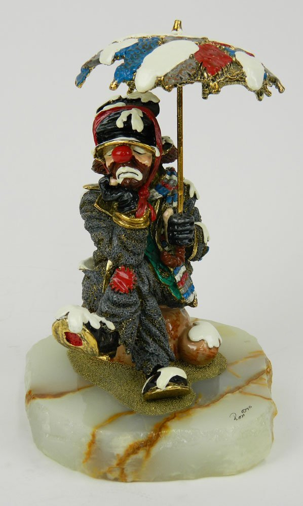 Circa 1990, Limited Edition Ron Lee Clown Sculpture on