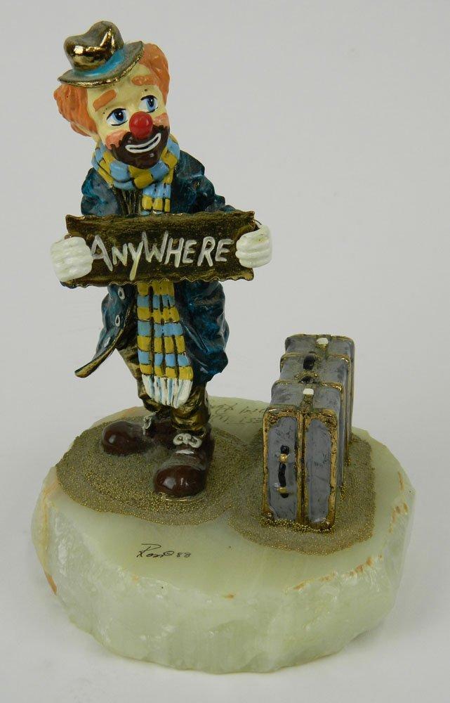 "Ron Lee (1988) Clown Sculpture ""Georgie Going Anywhere"""