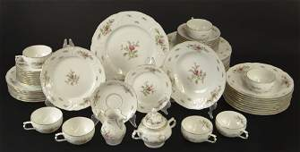 Sixty 60 Piece Rosenthal Classic Rose China Dinner