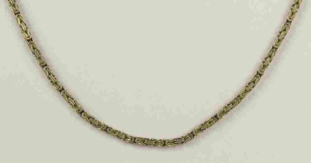 Modern Italian 14 Karat Yellow Gold Necklace. Signed