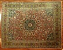 Antique Persian Kermin Rug Circa 1900 Colorful Border