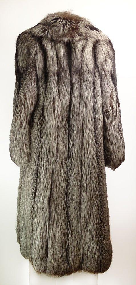 Retro Jerry Sorbara Full Length Silver Fox Fur Coat. - 2
