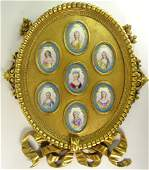 Carved and Giltwood Framed Collection of Seven (7) Late