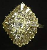 Ladys approx 60 Carat Oval Round Brilliant and