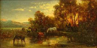 19th Century Continental Oil on Panel Pastoral