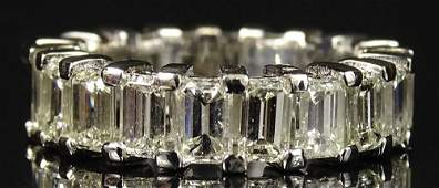 Ladys approx 70 Carat Emerald Cut Diamond and
