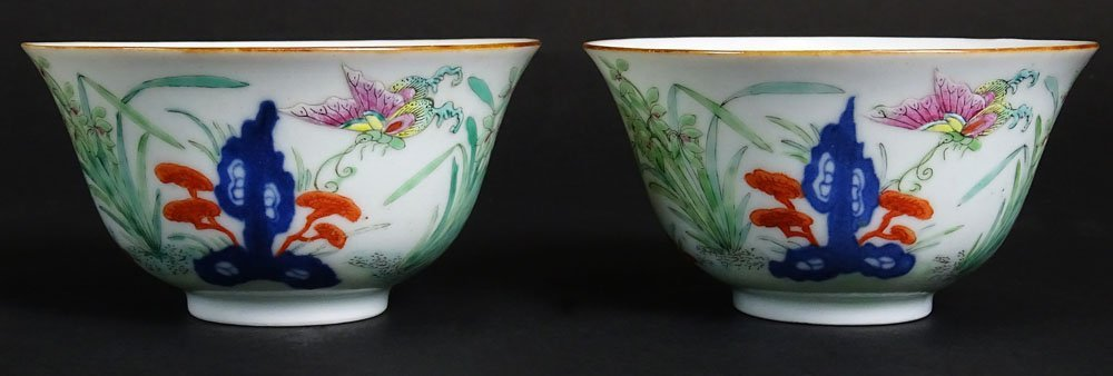 Pair of Chinese Jiaqing (1796-1820) Doucai Porcelain