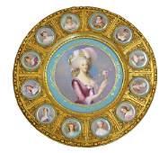 Antique Sevres Porcelain Portrait Plaque and Giltwood