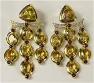 Lady's Large Approx. 95.0 Carat Oval Cut Citrine, 5.50