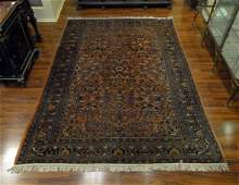 SemiAntique Persian Rug Unsigned Fraying at Corner