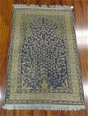 SemiAntique Persian Prayer Rug Unsigned Some Fading