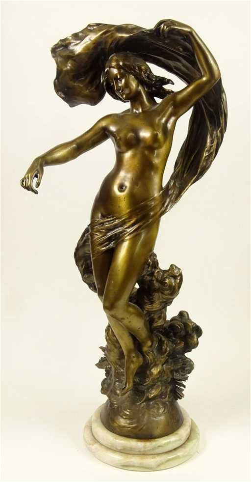 h dallion art nouveau bronze sculpture venus on. Black Bedroom Furniture Sets. Home Design Ideas