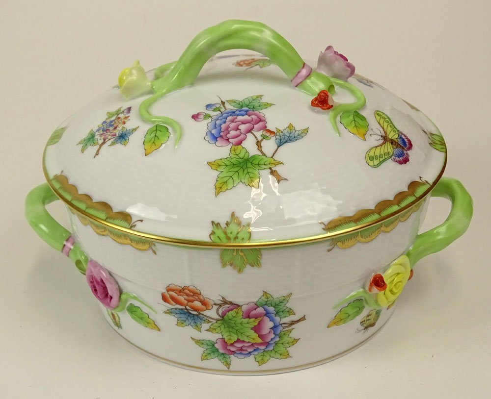 Herend Hand Painted Queen Victoria Covered Tureen.