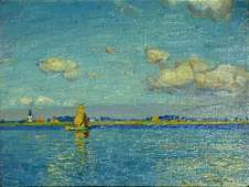 Harry Van der Weyden, American (1868-1952) Oil on Panel