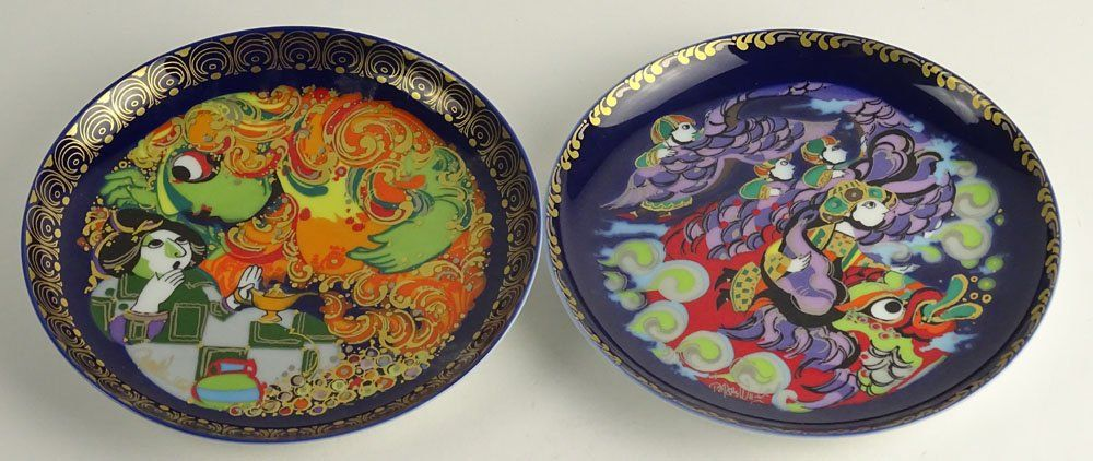 Pair of Rosenthal Studio Line Hand Painted Plates