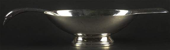 Christofle Silver Plate Art Deco Inspired Swan Sauce