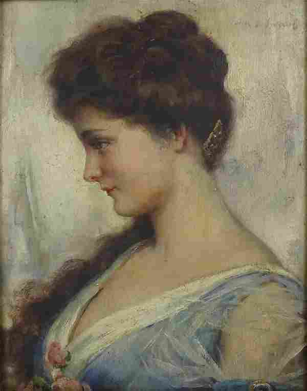 Early 20th Century Oil on Board in the style of John