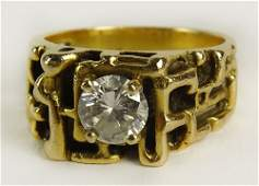 Mens Vintage Approx 50 Carat Round Cut Diamond and