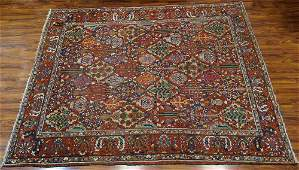 Large SemiAntique Persian Rug Unsigned Wear and Low