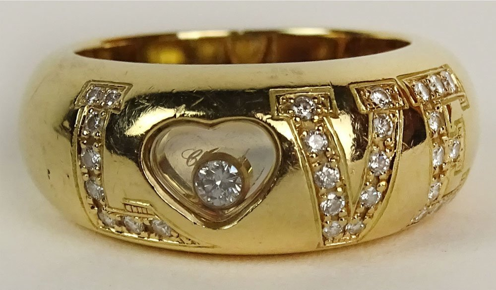 Lady's Chopard 18 Karat Yellow Gold and approx. .29