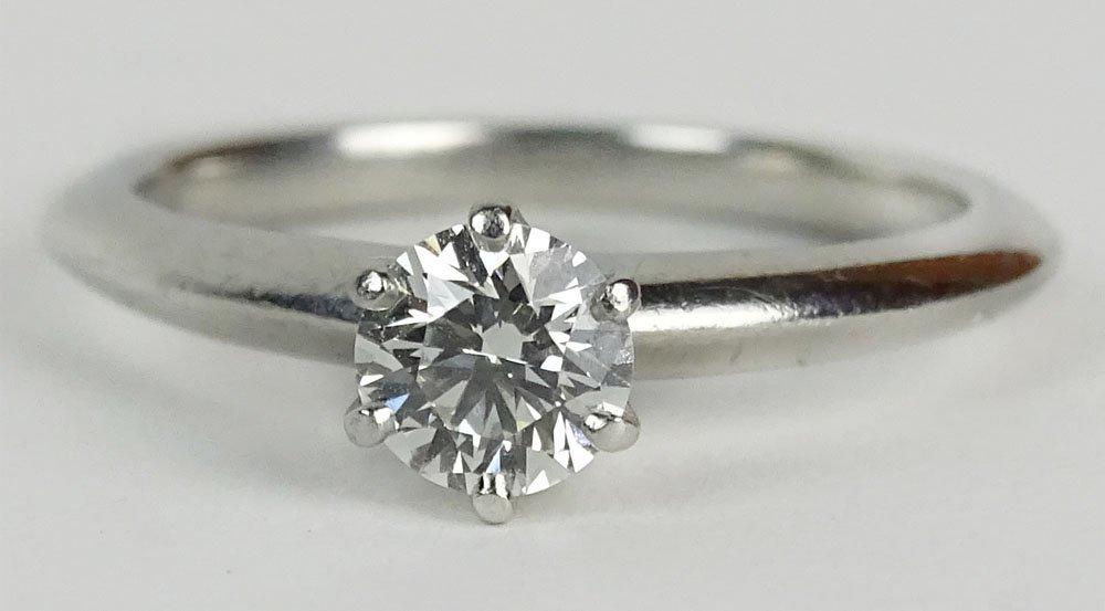 Tiffany & Co .47 Carat Diamond and Platinum Engagement