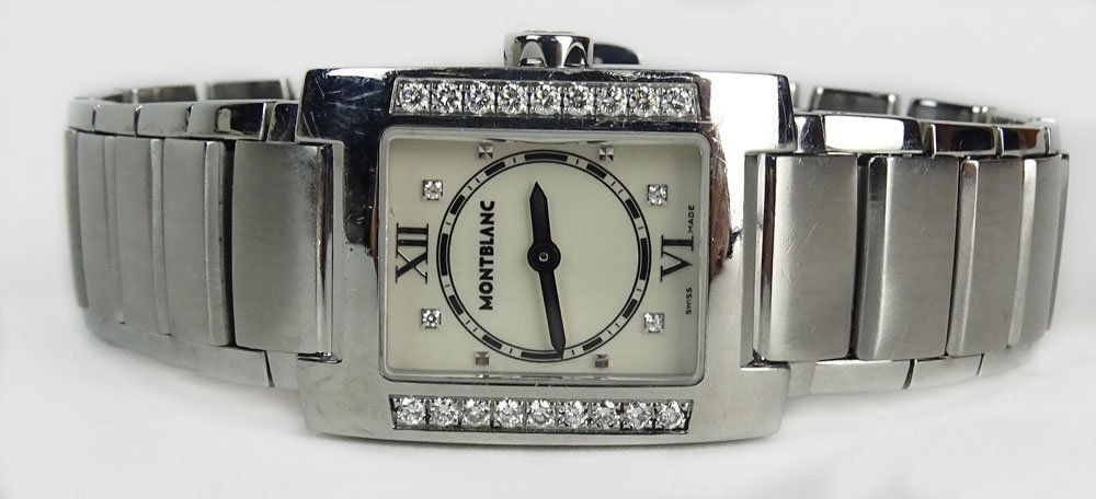 Lady's Montblanc 7047 Profile Stainless Steel Automatic
