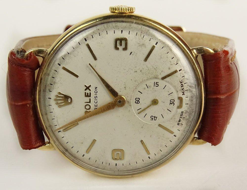 Vintage Rolex 9 Karat Yellow Gold Watch with Leather
