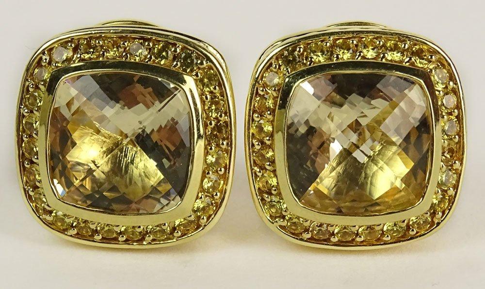 Pair of David Yurman 18 Karat Yellow Gold, Yellow