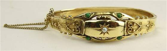 Ladys Vintage 14 Karat Yellow Gold Bangle Bracelet