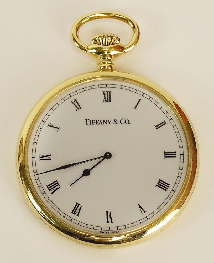 Tiffany & Co 18 Karat Yellow Gold Pocket Watch with