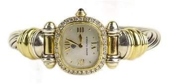 Lady's David Yurman 18 Karat Yellow Gold and Sterling
