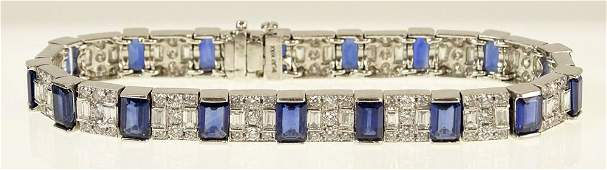 Fine Quality Approx. 12.70 Carat Emerald Cut Sapphire,