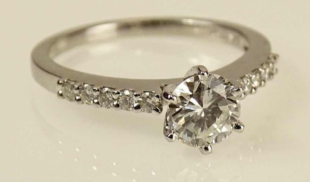 GIA Certified .82 Carat Round Brilliant Cut Diamond and
