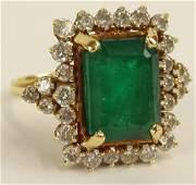Lady's Vintage approx. 7.0 Carat Emerald, 1.25 Carat