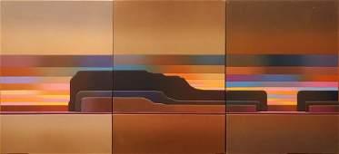 Rib Bloomfield, British (20th C) Retro 1970's Oil on